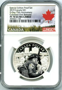 2019-1-CANADA-SILVER-DOLLAR-D-DAY-NGC-PF70-UCAM-COLORIZED-PROOF-FIRST-RELEASES