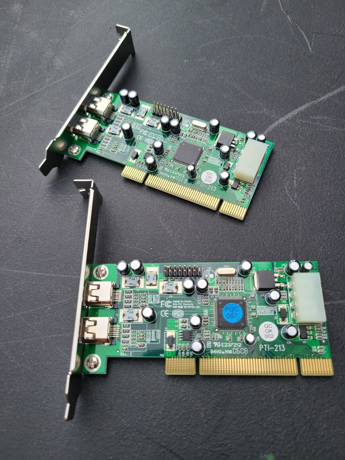 Lot of two PTI-213 Firewire Cards