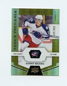 16-17-UPPER-DECK-TRILOGY-ROOKIE-RC-79-SONNY-MILANO-428-999-BLUE-JACKETS-60678