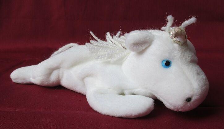 Beanie Baby - Mystic the Unicorn - Wool mane and tail