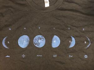 Native-Lights-T-Shirt-Small-Black-American-Apparel-50-50-Blend-Shirt