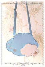 Lolita Gils Blue Cloud in the Sky with stars Lolita PU Shoulder Bag Purse Gift