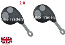 2 X Replacement 2 Button Remote Key Shell Case Fob For Cobra Alarm 7777 / logo