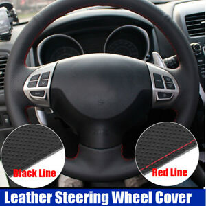 Sewing-Leather-Steering-Wheel-Cover-For-Mitsubishi-Lancer-EX-Outlander-Colt-ASX