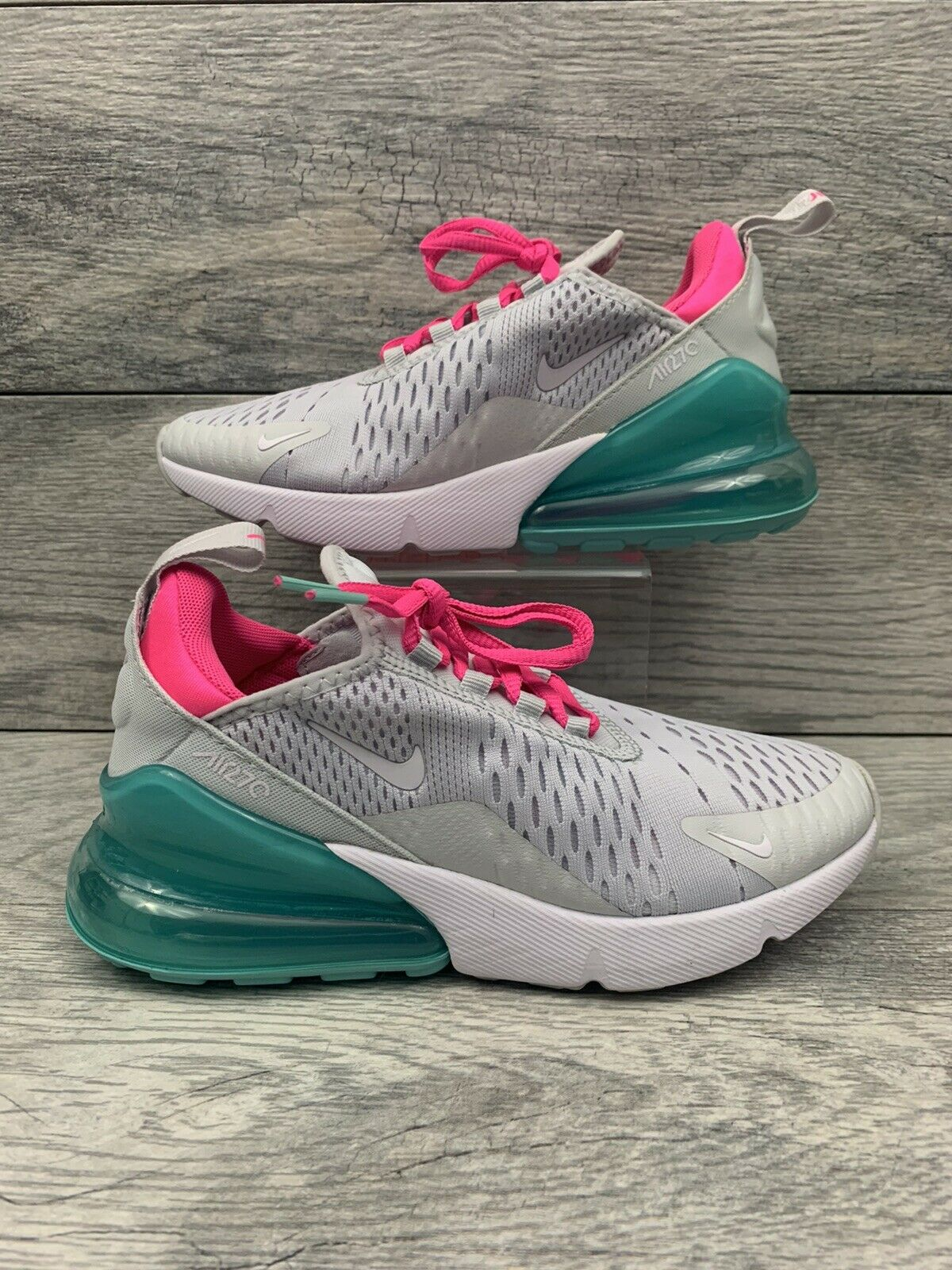 Nike Womens Air Max 270 Size 5 Barely Rose Vintage Wine Ah6789 601