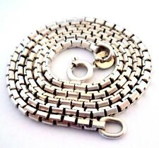 Vintage FANCY-LINK CHAIN 'Snake' Belcher HEAVY NECKLACE 37.5cm 8.60g For Pendant