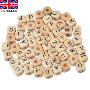 100PCs-Natural-Wooden-A-Z-Alphabet-Letter-Cube-Wood-Beads-10x10mm-LOCA