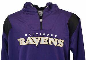 Baltimore-Ravens-NFL-Men-039-s-Purple-Hooded-1-4-Zip-Fleece-Lined-Jacket-Big-amp-Tall