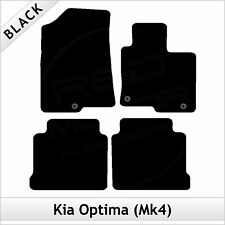 Kia Optima Mk4 2016 onwards Tailored Fitted Carpet Car Floor Mats BLACK