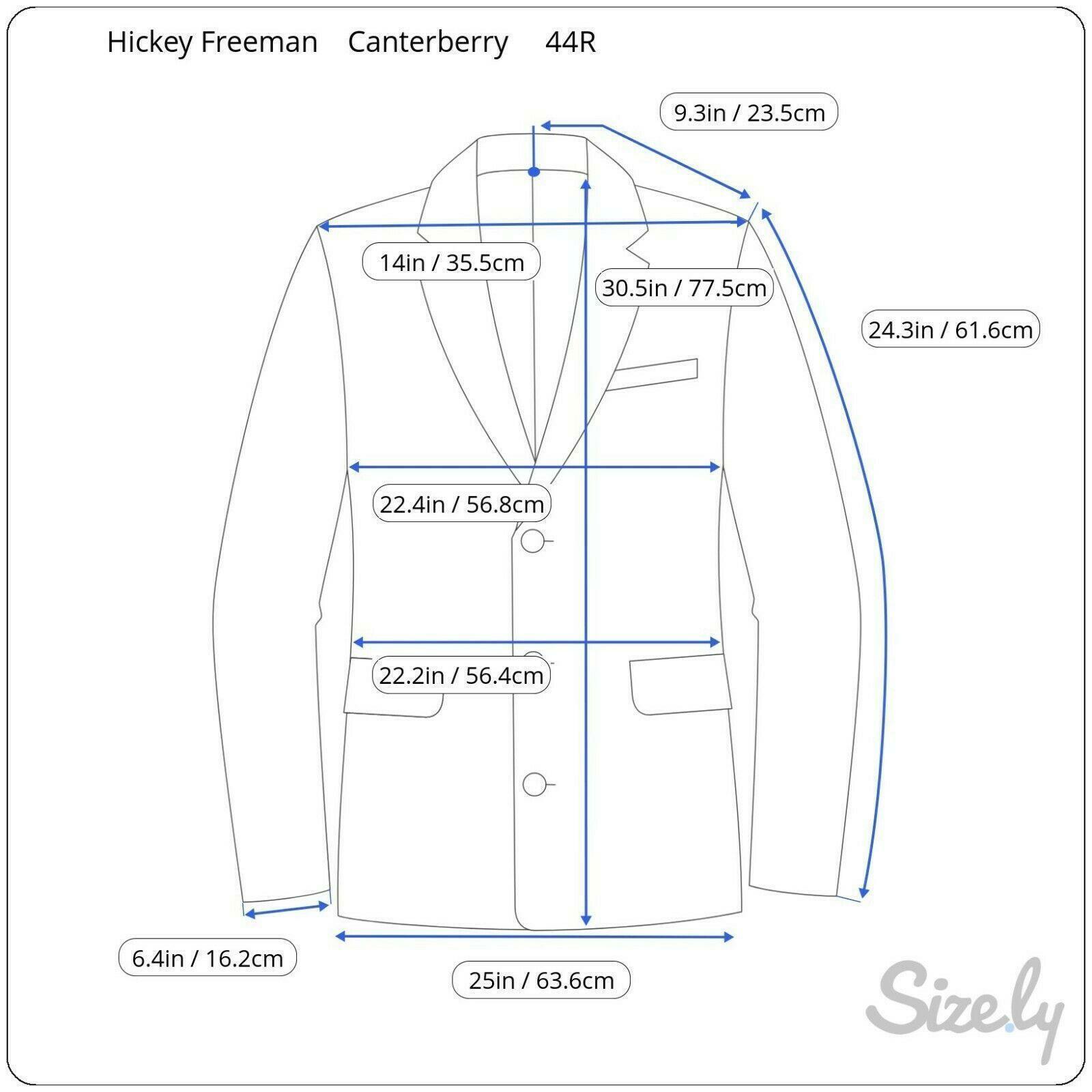Hickey Freeman Paul Simon Gray White Black Wool H… - image 12