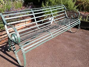 Awesome Details About Antique Metal Garden Bench Onthecornerstone Fun Painted Chair Ideas Images Onthecornerstoneorg