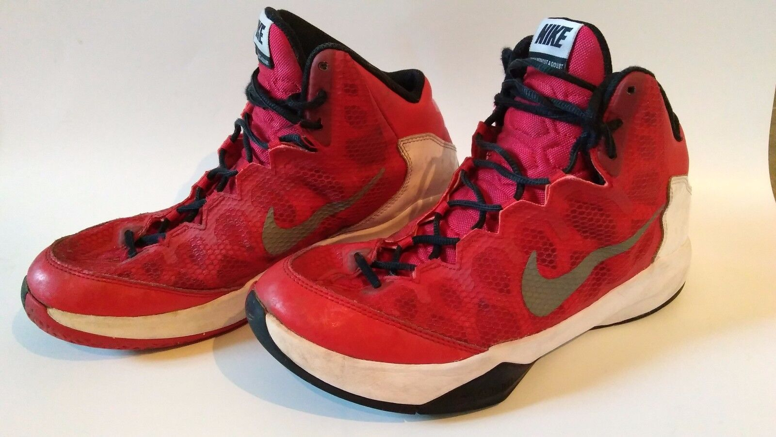 Nike Zoom Without a Doubt - 749432-601 - Red White - Men's Comfortable  Casual wild