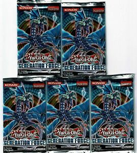 YU-GI-OH-GENERATION-FORCE-BOOSTER-PACKS-5-PACK-LOT-NEW-SEALED