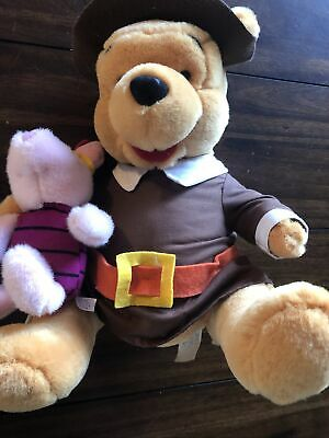 "Winnie The Pooh Bear Pilgrim Piglet Indian 12"" Plush ..."