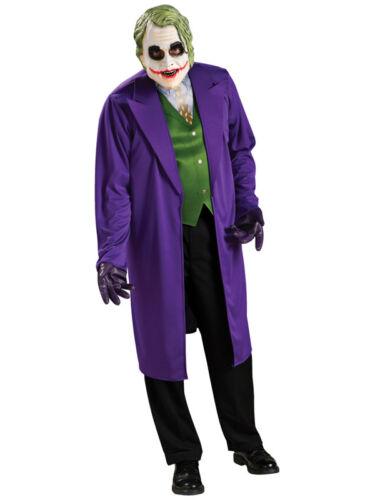 Adult The Joker Classic Fancy Dress Costume Batman Dark Knight Rises Outfit New