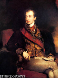 CLEMENS LOTHAR WENZEL PRINCE METTERNICH PAINTING BY SIR THOMAS LAWRENCE REPRO
