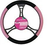 Pink and Black Steering Wheel Cover [2510044]