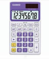 Casio 8 Digit Solar Plus Battery Calculator Auto Off Purple For Pocket Or Purse