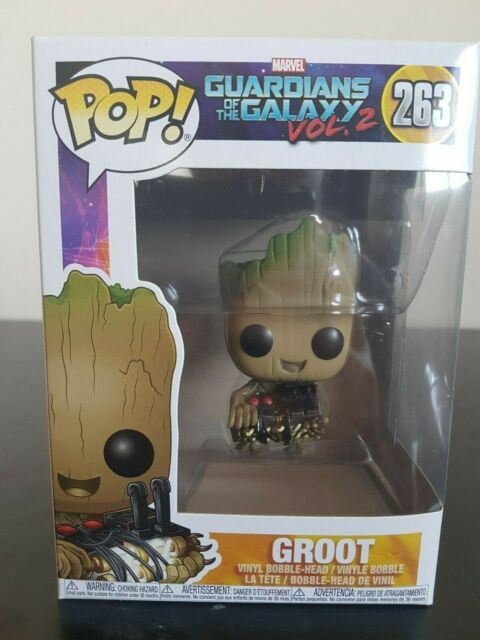 Marvel-Pop Marvel-Guardians of the Galaxy Vol.2 #263 Groot avec bombe Pop