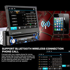 """Bluetooth 7"""" TV Touch Screen DVD MP3 USB SD MP4 IPOD AUX Car Stereo Flip Out New"""