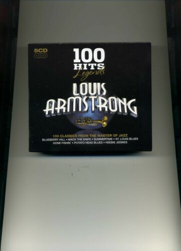 1 of 1 - LOUIS ARMSTRONG - 100 HITS - LEGENDS - 5 CDS - NEW!!