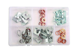 Flexible-de-freins-Clips-15-28-mm-Set-80-Pieces-Fixation-Tuyau-Tube-Tubing-Clamp