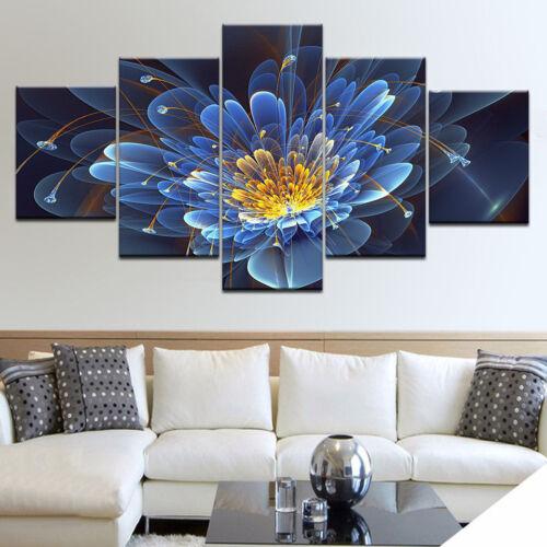 G Blue Flowers Art Print Home Decor Wall Art Poster