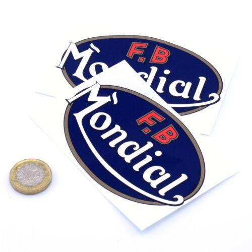 FB MONDIAL Autocollant Decal Vinyle Moto Moto autocollants 100 mm x2