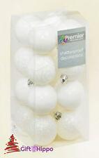 Decoración Árbol Navidad - 50mm Blanco ADORNOS DE - 16 Paquete - Inastillable