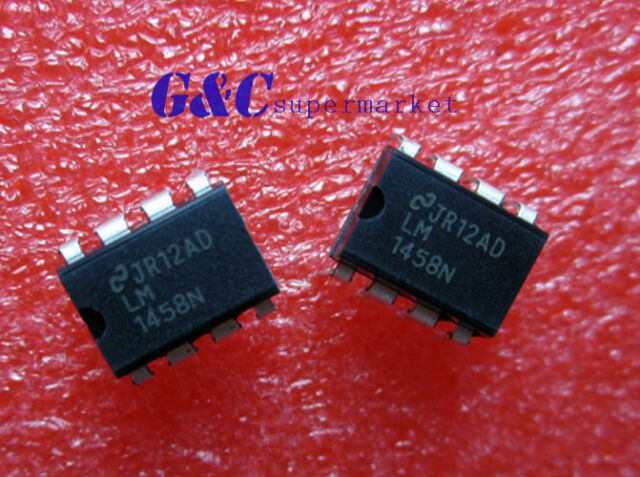 20PCS LM1458N IC OP AMP DUAL 8-DIP NEW GOOD QUALITY D6