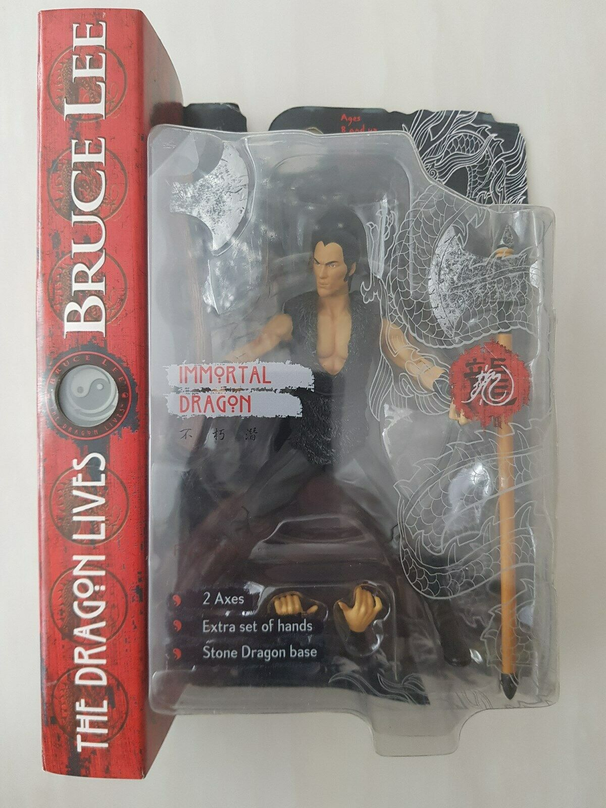 ART ASYLUM  Bruce lee figure THE DRAGON LIVES IMMORTAL DRAGON