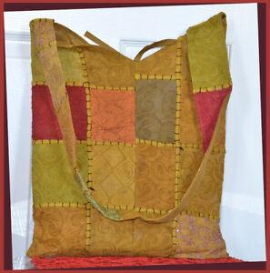 Hand-Crafted-Vintage-Hand-Embroidered-Patches-Sling-Bag-Shoulder-Bag-Green