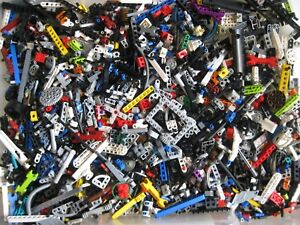 LEGO-TECHNIC-Mindstorms-Bulk-Lot-1-2-lb-Pound-of-RANDOM-Beams-Gears-Axles-Parts