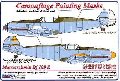 AML Models 1/72 CAMOUFLAGE PAINT MASKS MESSERSCHMITT Bf-109E EMIL Fighter