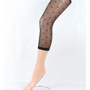 collant legging femme court fin noir papillon coeur TU victorine  a4978ff4747