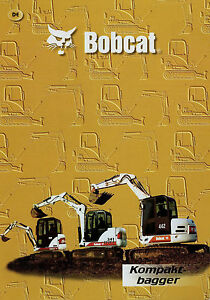 100% Vrai Bobcat Compacte Excavateurs Prospectus D 2002 2/02 Engins De Chantier Prospectus Excavateurs Brochure-ospekt Bagger Brochure Fr-fr Afficher Le Titre D'origine Blanc De Jade