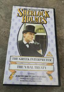 THE-ADVENTURES-OF-SHERLOCK-HOLMES-Greek-Interpreter-Naval-Treaty-PAL-VHS-Video
