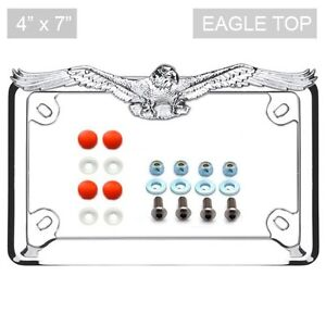 image is loading chrome eagle license plate frame locking screw amp - Eagle License Plate Frame