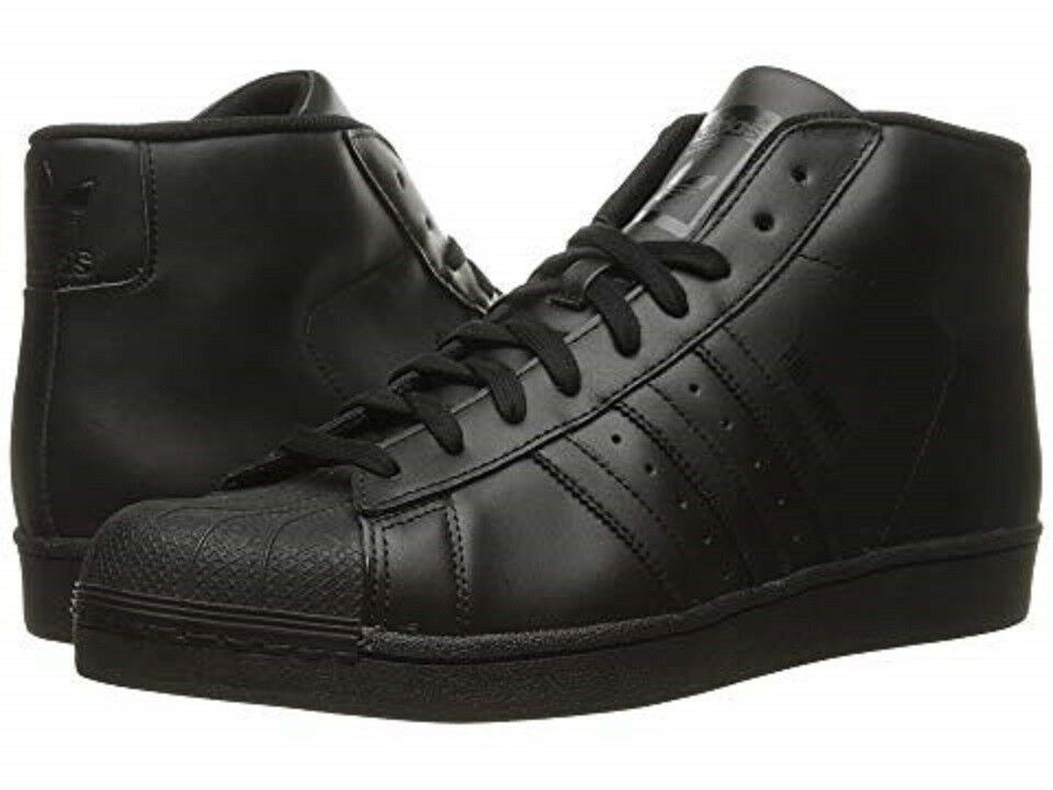 ADIDAS S85957 PRO MODEL Mn´s (M) Black Black Leather Basketball shoes