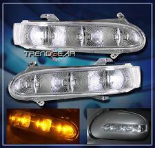 1999-2002 MERCEDES W220 W215 LED SIDE MIRROR TURN SIGNAL LIGHT BLINKER CLEAR SET