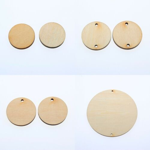 "1""5""W18""inch WOODEN CIRCLES WITH HOLE UNFINISHED CRAFT FAMILY BIRTHDAY TAG"