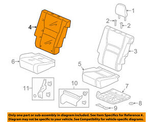 Honda Genuine 82531-SXS-A11ZC Seat Cushion Trim Cover Rear Left