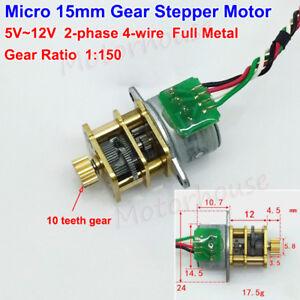 Details zu Mini Micro 15mm Metal Gear Precision 2-phase 4-wire Stepper on