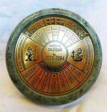 Cinquanta anno calendario perpetuo-ottone montato su marmo Base-NUOVO NELLA SCATOLA (B)