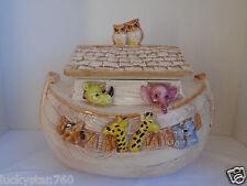 Vintage Treasure Craft Ceramic Noah's Arch Cookie Jar