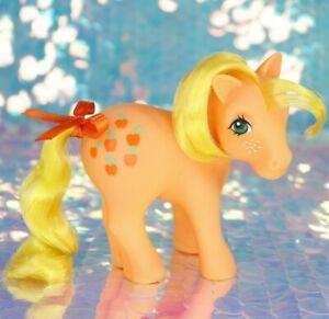 Vintage My Little Pony APPLEJACK Orange Yellow Hair Red Apples G1 MLP BD057