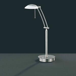 Wofi-Tischleuchte-Liverpool-Nickel-matt-1-flg-Dimmer-Glas-weiss-verstellbar-Lampe