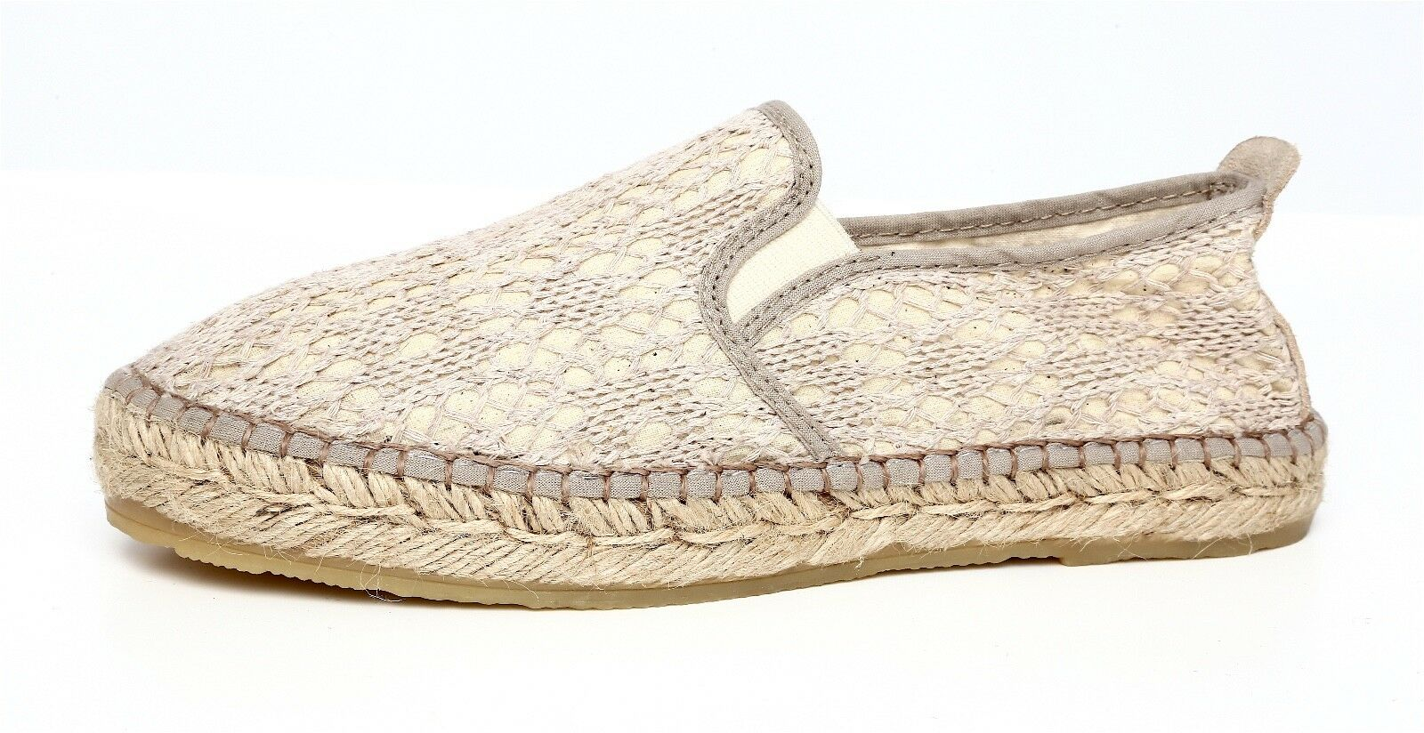 Free People Women's Slip On Taupe Espadrille Flats Sz 36 EUR 5137