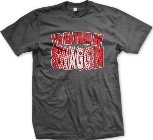 I/'d Rather Be Swaggin Hip Hop Rap Music Hustle Pimpin Mens T-shirt