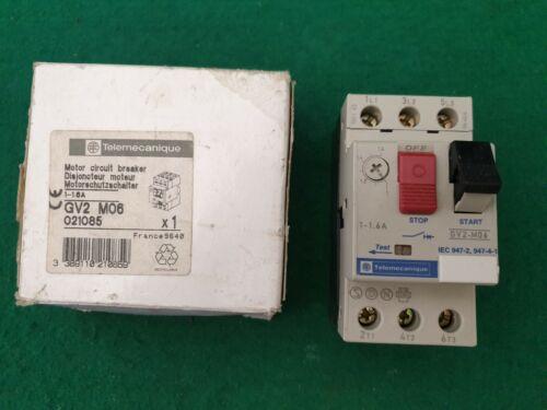 Telemecanique GV2M06 Motor circuit breaker 1-1.6 Amp